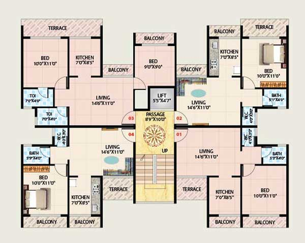 5p group shivshakti shiv shakti badlapur west 2 bhk flat drawing
