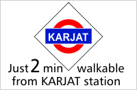 2 mins from Karjat Station