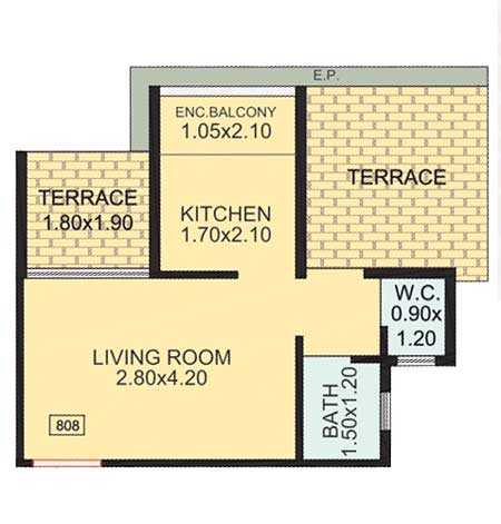 Royal Empire 1 room kitchen plan